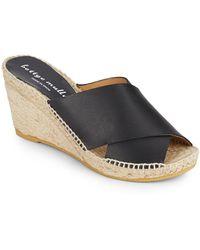 e7df3f82955 Bettye Muller - Dijon Leather Wedge Espadrille Mule Sandals - Lyst