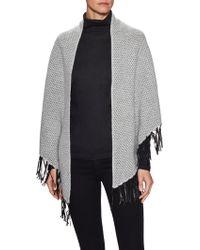 Portolano - Cashmere Intarsia Knit Wrap - Lyst