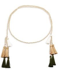 Panacea - Beaded Tassel Necklace - Lyst