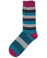 Ted Baker - Organic Mixed Stripe Sock - Lyst