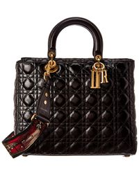 Dior - Dior Large Lady Dior Quilted Cannage Leather Tote - Lyst