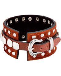 Uno De 50 - Stud Leather Bangle Bracelet - Lyst