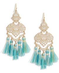 Panacea - Filigree Tassel Drop Earrings - Lyst