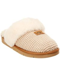 75859691993 UGG Women's Dakota Leather Pom Pom Slipper in White - Lyst