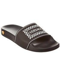 Versace Women's Rubber Slippers Sandals Logo 90s Vintage