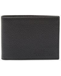 A.Testoni - Textured Leather Bi-fold Wallet - Lyst