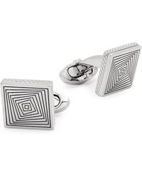 Tateossian engraved square cufflinks - Metallic ty68I4ICAM