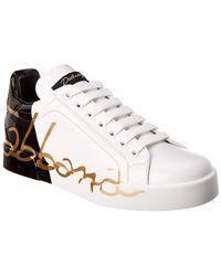 Dolce & Gabbana - Portofino Leather Trainer - Lyst