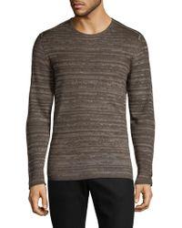 John Varvatos | Tonal Strip Crew Sweater | Lyst