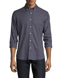 Slate & Stone - Chequered Button-down Collar Sportshirt - Lyst