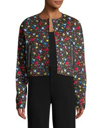 Love Moschino - Floral Print Jacket - Lyst