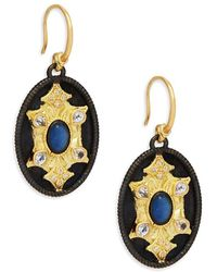 Armenta - Old World Sapphire & Yellow Gold Medallion Drop Earrings - Lyst