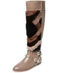 Ivy Kirzhner - Husky Leather & Shearling Boot - Lyst