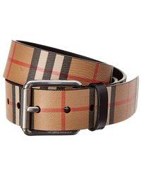 Burberry Vintage Check Leather Belt