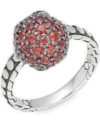 John Hardy - Red Sapphire & Sterling Silver Ring - Lyst