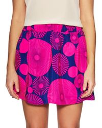 Alice & Trixie - Devin Silk Printed Flare Skirt - Lyst