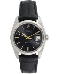 Rolex - Vintage Rolex Stainless Steel Oysterdate Watch, 34mm - Lyst