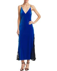 ABS By Allen Schwartz - Abs By Allen Schwartz Velvet Mixed Media Gown - Lyst