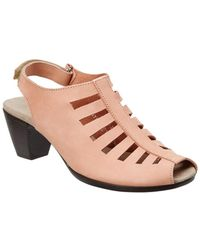 Munro - Abby Slingback Leather Sandal - Lyst
