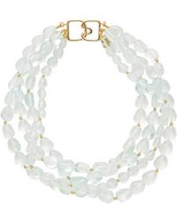 Kenneth Jay Lane - Beaded Collar Necklace - Lyst
