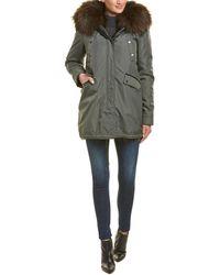 Nicole Benisti Belleville Leather-trim Coat