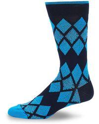 Bugatchi - Argyle Crew Socks - Lyst