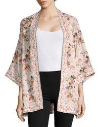 Max Studio - Floral Three-quarter Kimono - Lyst