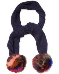 Jocelyn - Knitted Fox Fur Scarf - Lyst