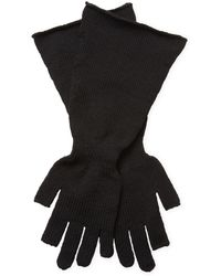 Rick Owens - Rolled Wool Gloves - Lyst