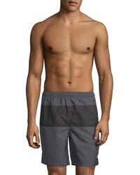 Fred Perry Panelled Swim Short - Gray