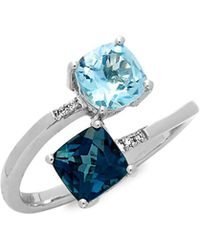 Le Vian - 14k Vanilla Gold Deep Sea Blue Topaz, Sky Blue Topaz & Vanilla Diamonds Ring - Lyst