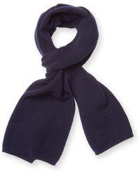 Orlebar Brown - Ribbed Wool Rectangular Scarf - Lyst