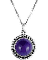 Georg Jensen - Silver Amethyst Necklace - Lyst