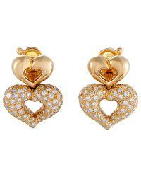 Heritage Van Cleef & Arpels - Van Cleef & Arpels 18k 1.75 Ct. Tw. Diamond Stacked Hearts Earrings - Lyst