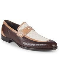 Mezlan - Leather Penny Loafers - Lyst