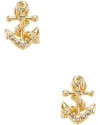 Tai - Anchor Stud Earrings - Lyst