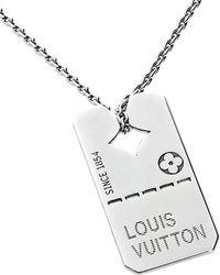 Louis Vuitton - Louis Vuitton 18k Dog Tag Necklace - Lyst