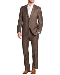 Saks Fifth Avenue - Collection By Samuelsohn Classic-fit Two-button Wool Suit - Lyst