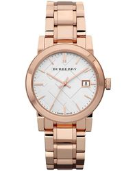 Burberry - City Rose Goldtone Stainless Steel Bracelet Watch/34mm - Lyst