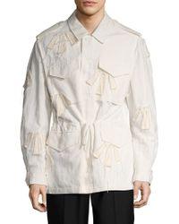 3.1 Phillip Lim - Fringed Parka Jacket - Lyst