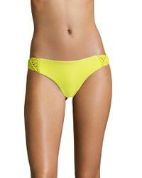 Mikoh Swimwear - Cayman Woven Side Detailed Bikini Bottom - Lyst