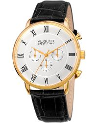 August Steiner | Slim Quartz Multifunction Watch, 44mm | Lyst