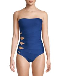 Carmen Marc Valvo - Classic Solids One-piece Bandeau Swimsuit - Lyst