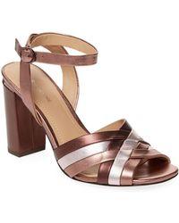 Pour La Victoire - Hadleynl Metallic Sandals - Lyst