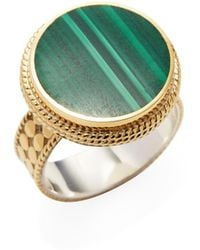 Anna Beck Jewelry - Malachite Circle Ring - Lyst