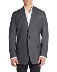 CALVIN KLEIN 205W39NYC - Slim-fit Micro Checkered Silk & Wool Sportcoat - Lyst