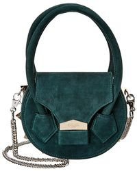 SALAR MILANO Mimi Soft Suede Shoulder Bag - Green