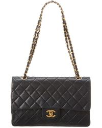29352ff00aac73 Chanel Black Patent Leather Camellia Accordion 3 Classic Flap Bag in ...