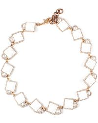 Lulu Frost - Mary Riviera Plated Crystal Necklace - Lyst