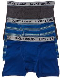 Lucky Brand - Pack Of 3 Boxer Briefs - Lyst